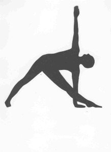 trikonasana outline